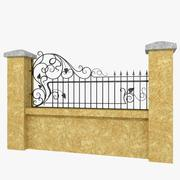 Wrought Iron Fence 4 3d model
