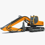 Hydraulic Hammer Crawler 3d model