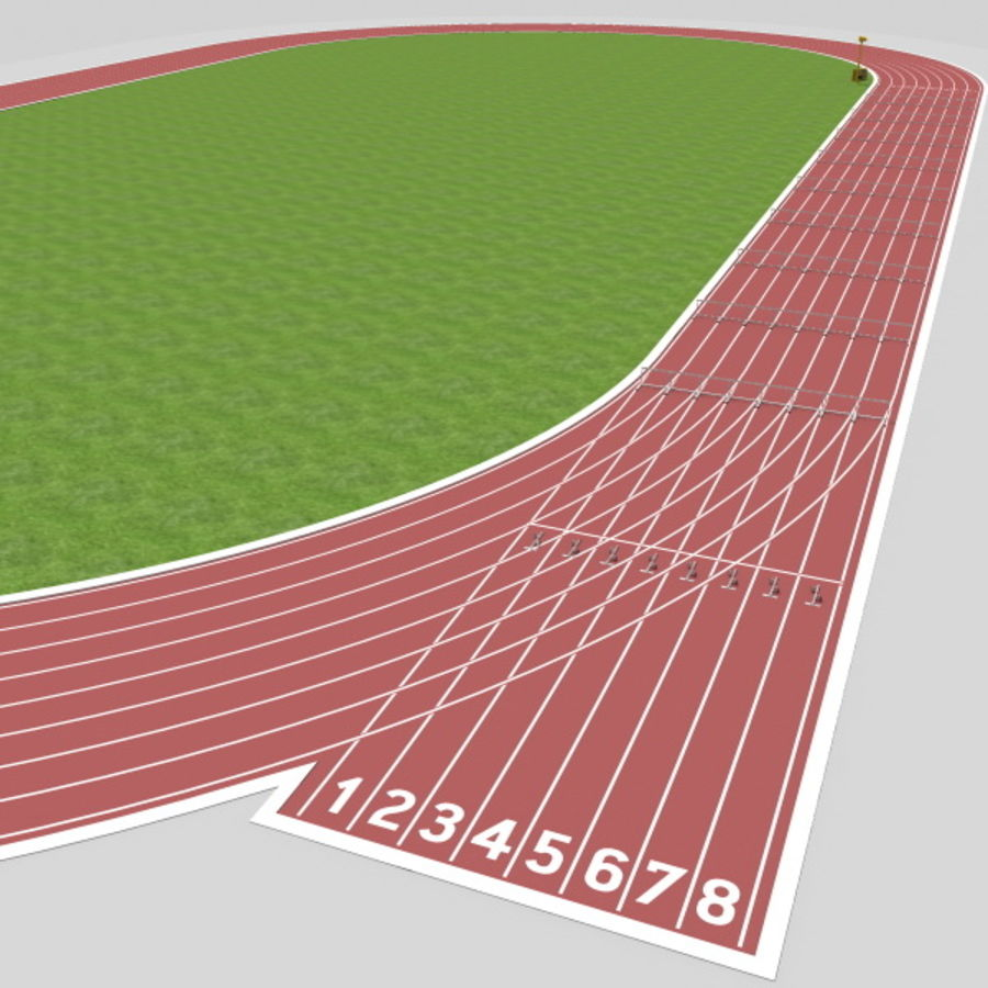 Track And Field Set royalty-free 3d model - Preview no. 16