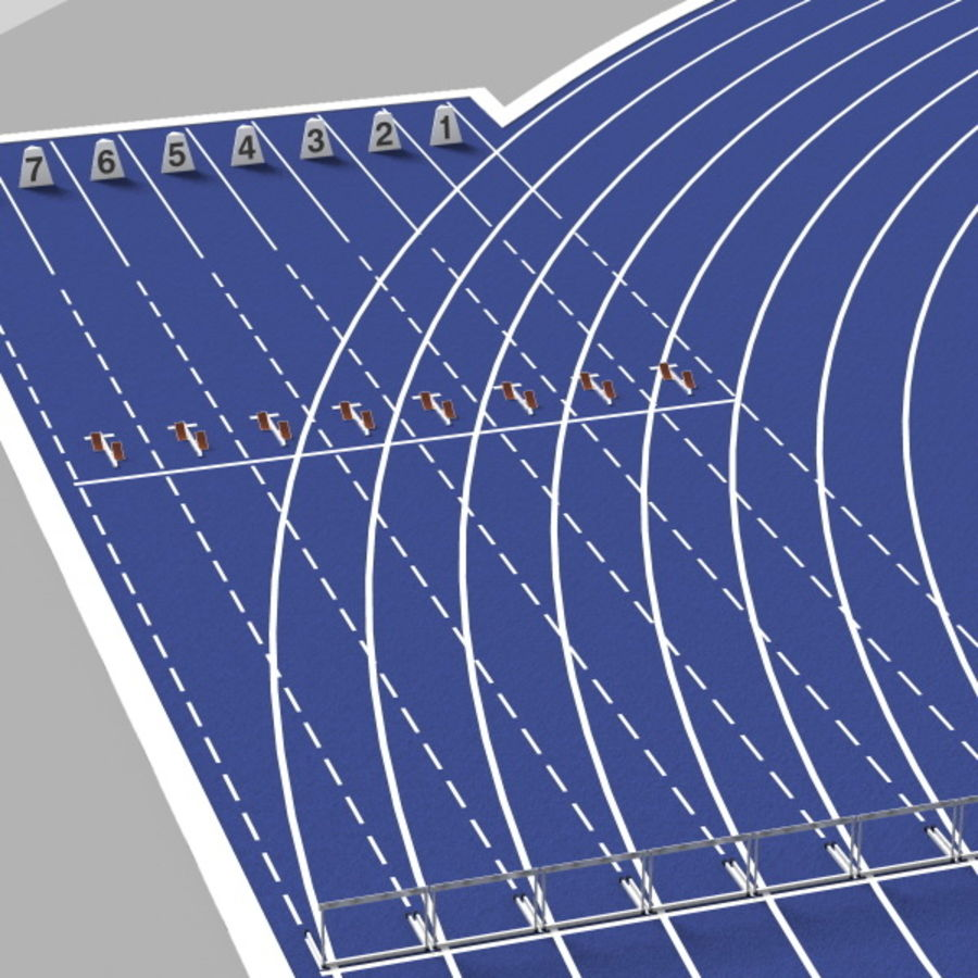 Track And Field Set royalty-free 3d model - Preview no. 13