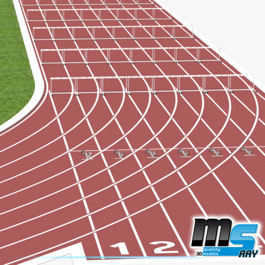 Track And Field Set royalty-free 3d model - Preview no. 1