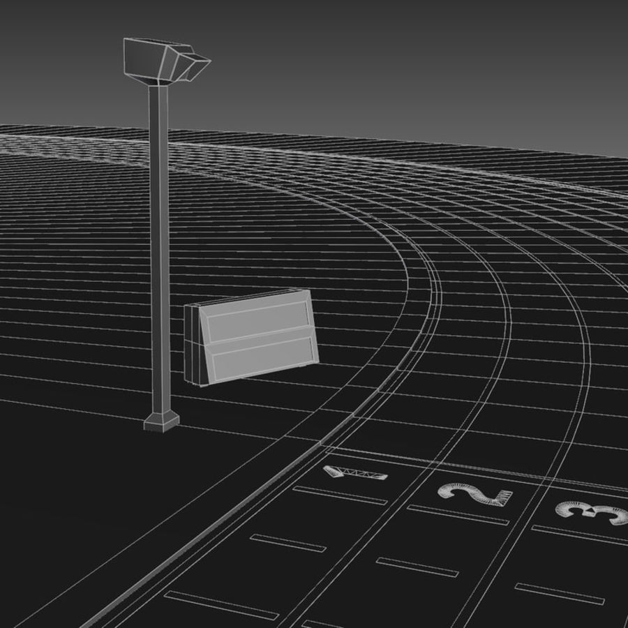 Track And Field Set royalty-free 3d model - Preview no. 18