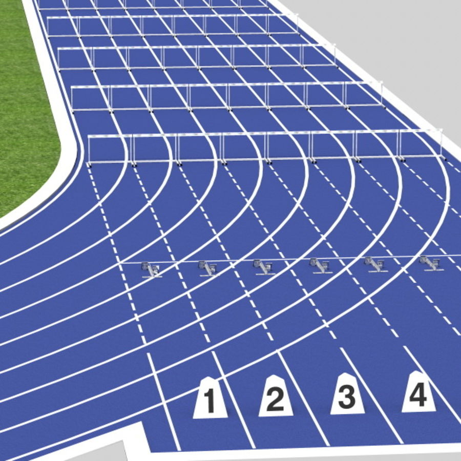 Track And Field Set royalty-free 3d model - Preview no. 2