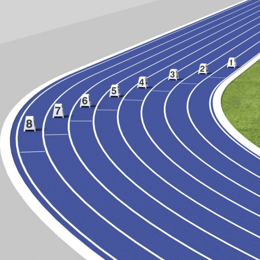 Track And Field Set royalty-free 3d model - Preview no. 8