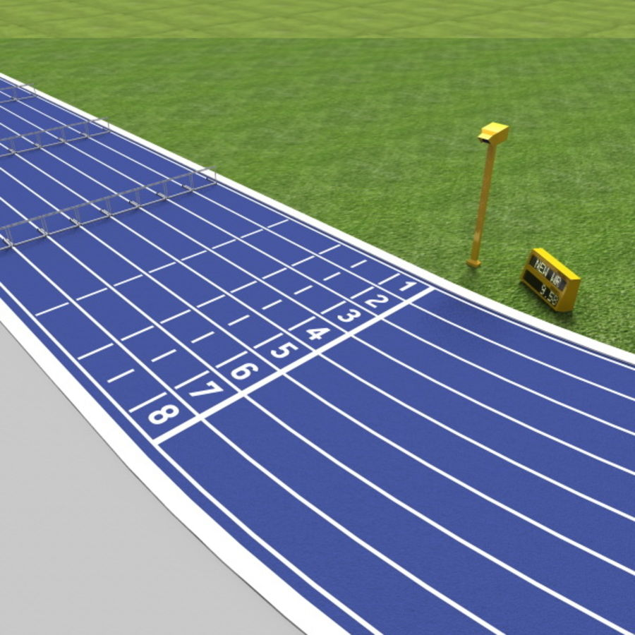 Track And Field Set royalty-free 3d model - Preview no. 5