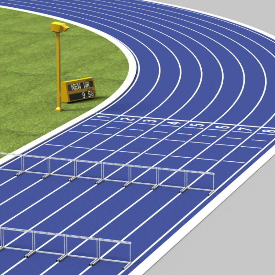 Track And Field Set royalty-free 3d model - Preview no. 7