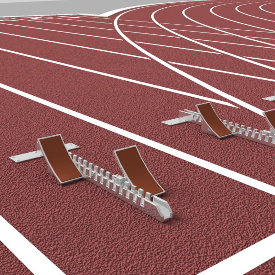 Track And Field Set royalty-free 3d model - Preview no. 9