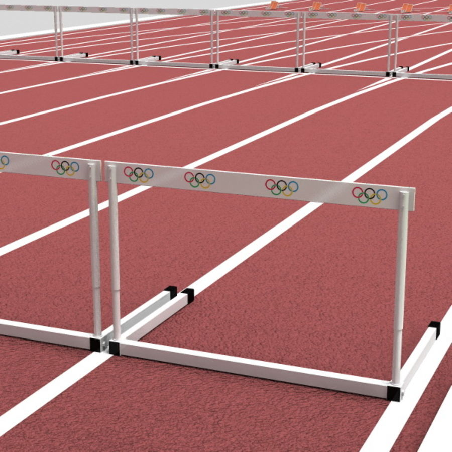 Track And Field Set royalty-free 3d model - Preview no. 14