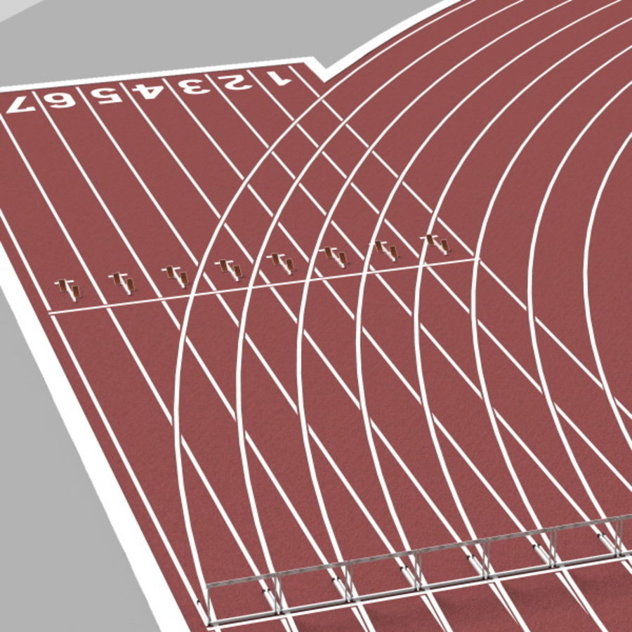 Track And Field Set royalty-free 3d model - Preview no. 12