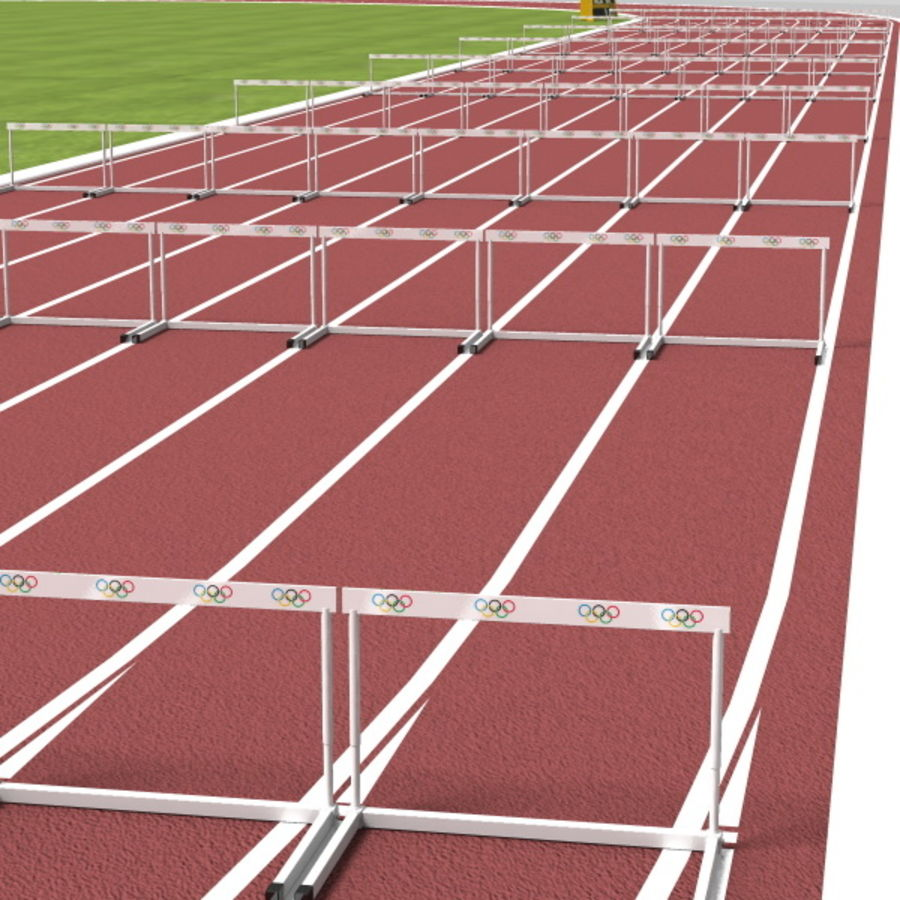 Track And Field Set royalty-free 3d model - Preview no. 6
