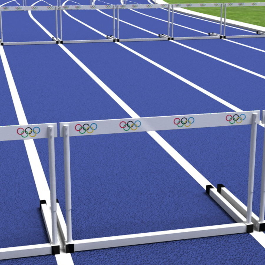 Track And Field Set royalty-free 3d model - Preview no. 15
