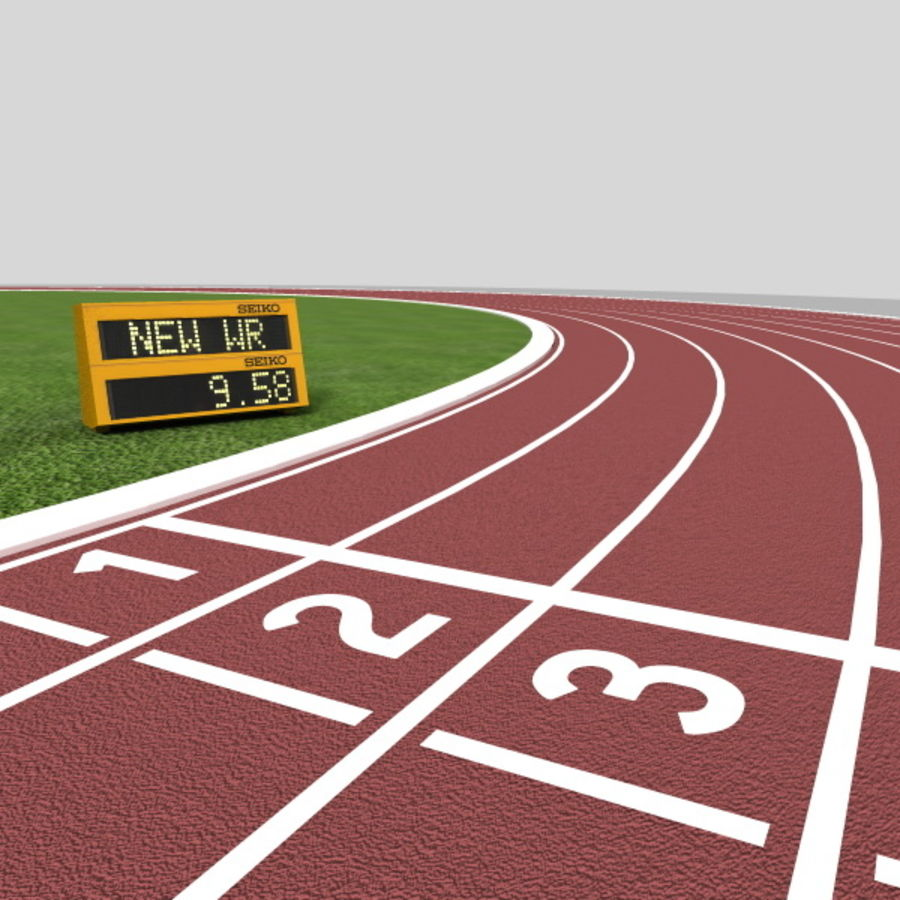 Track And Field Set royalty-free 3d model - Preview no. 11