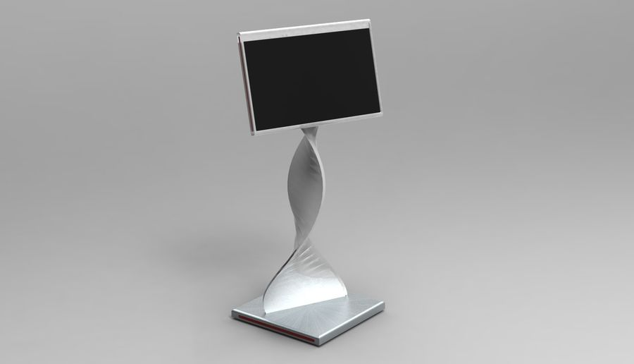 Kiosk royalty-free 3d model - Preview no. 2