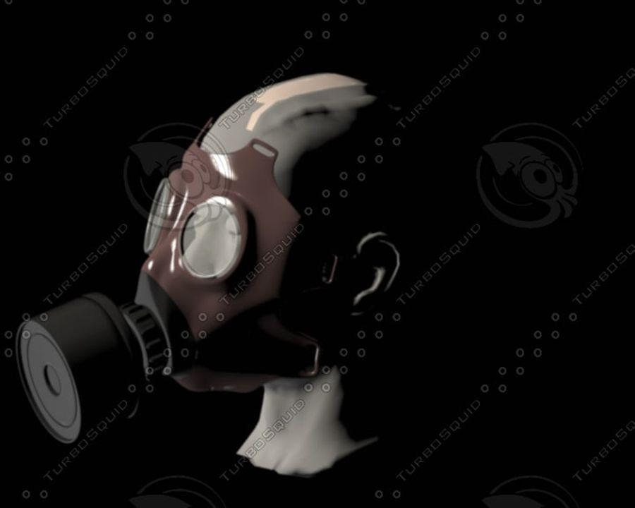 Máscara de gas royalty-free modelo 3d - Preview no. 3