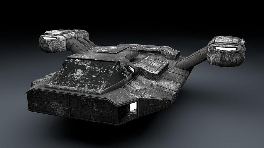 Ruimteschip strijd litteken royalty-free 3d model - Preview no. 5