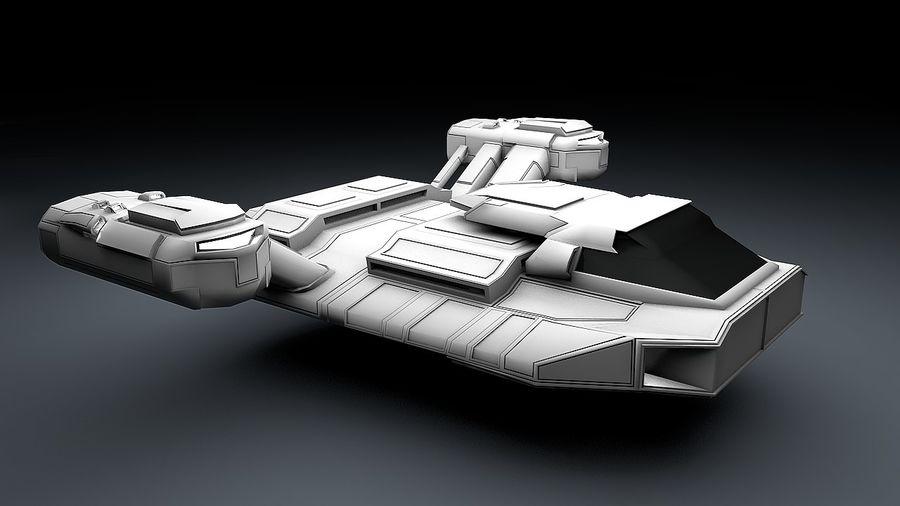 Ruimteschip strijd litteken royalty-free 3d model - Preview no. 2