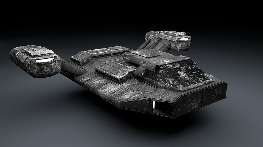 Ruimteschip strijd litteken royalty-free 3d model - Preview no. 3