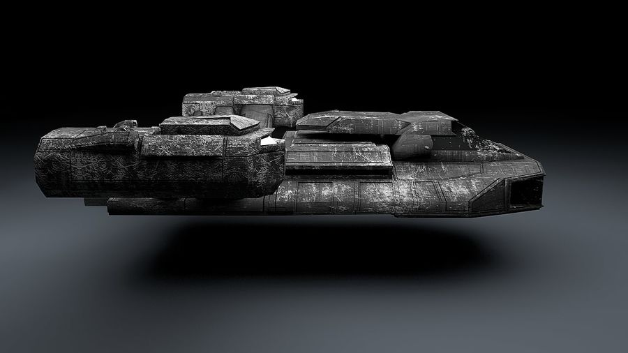 Ruimteschip strijd litteken royalty-free 3d model - Preview no. 4