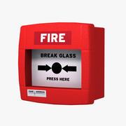 pulsante allarme incendio max2012 3d model