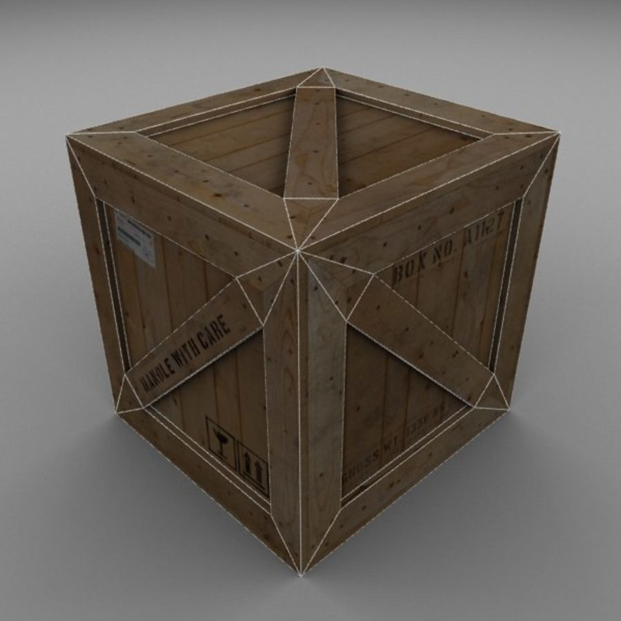 Wood Carton 002 royalty-free 3d model - Preview no. 12