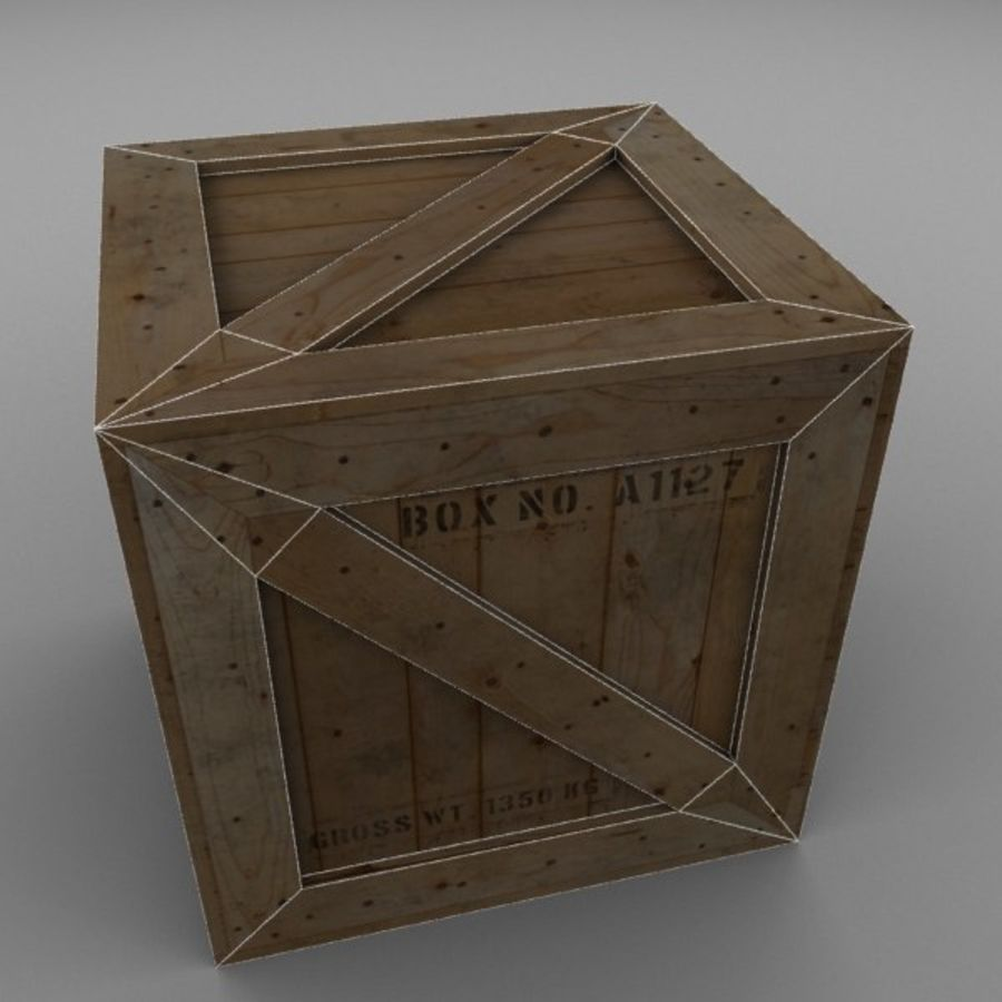 Wood Carton 002 royalty-free 3d model - Preview no. 15