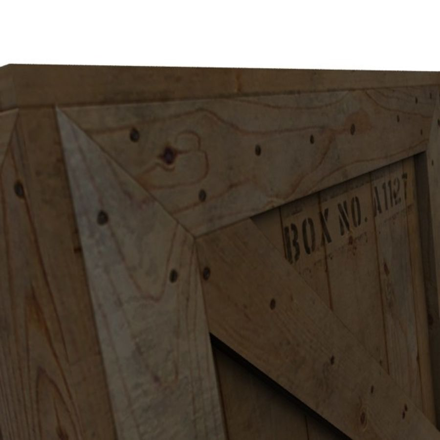 Wood Carton 002 royalty-free 3d model - Preview no. 11