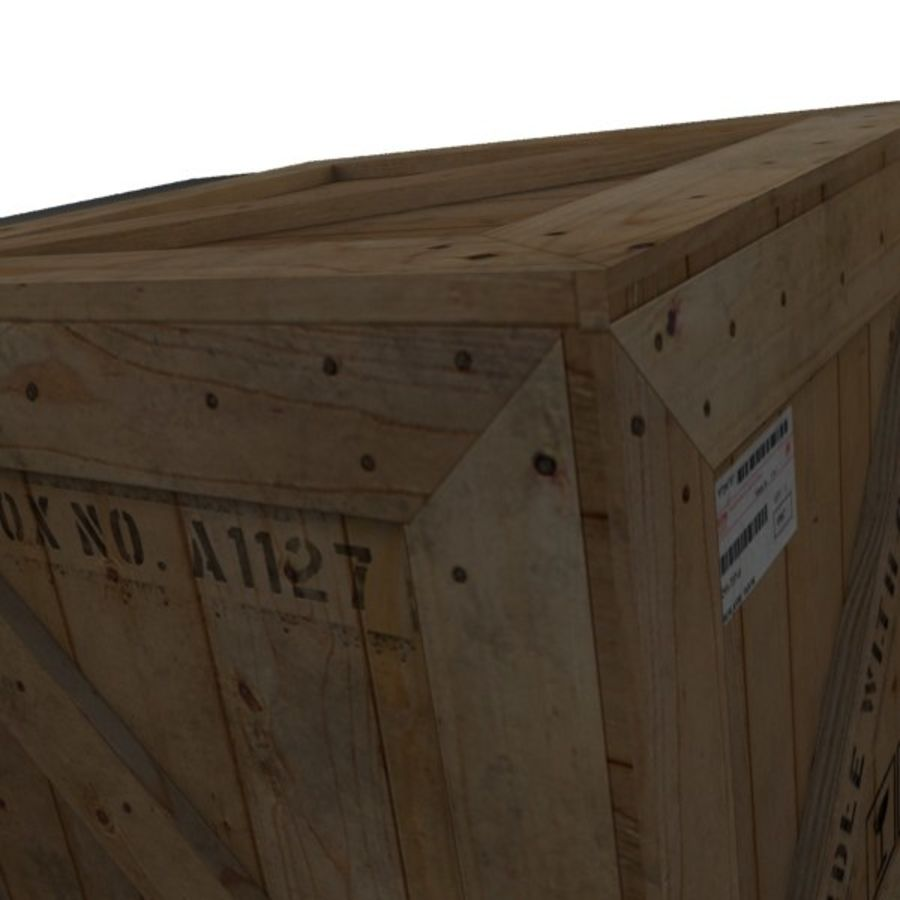 Wood Carton 002 royalty-free 3d model - Preview no. 9