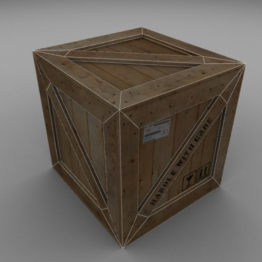 Wood Carton 002 royalty-free 3d model - Preview no. 13