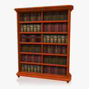 Półka na książki 3d model