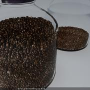 Cam kahve çekirdeği 3d model