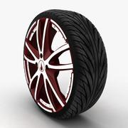 タイヤ付き17インチ合金ホイール 3d model