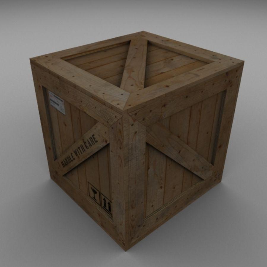 Houten doos 001 royalty-free 3d model - Preview no. 5