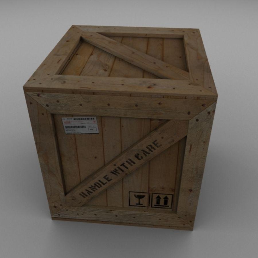 Houten doos 001 royalty-free 3d model - Preview no. 2