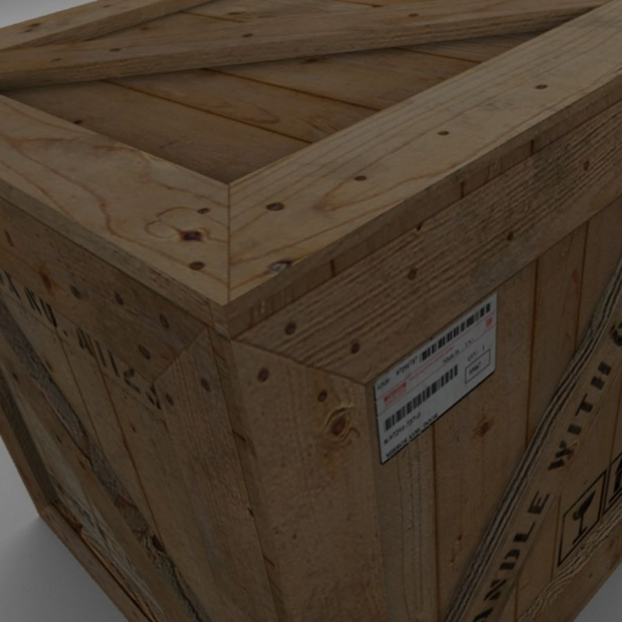 Houten doos 001 royalty-free 3d model - Preview no. 10