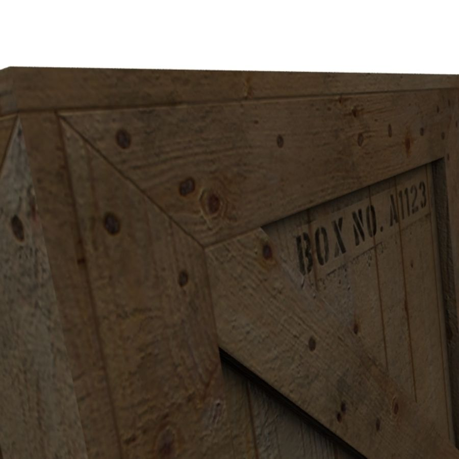 Houten doos 001 royalty-free 3d model - Preview no. 11