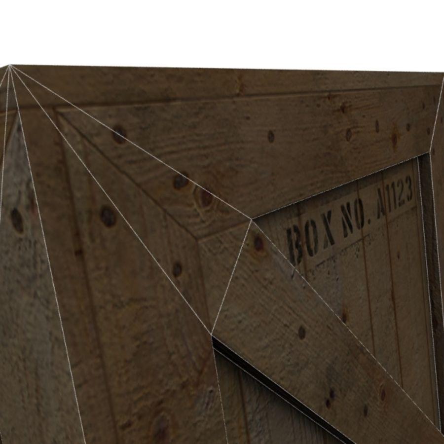 Houten doos 001 royalty-free 3d model - Preview no. 17
