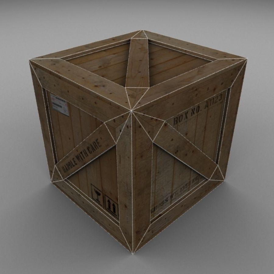 Wood Carton 001 royalty-free 3d model - Preview no. 12