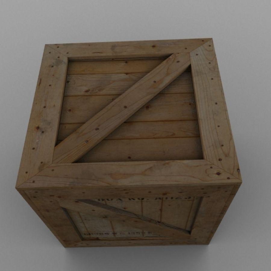 Wood Carton 001 royalty-free 3d model - Preview no. 8