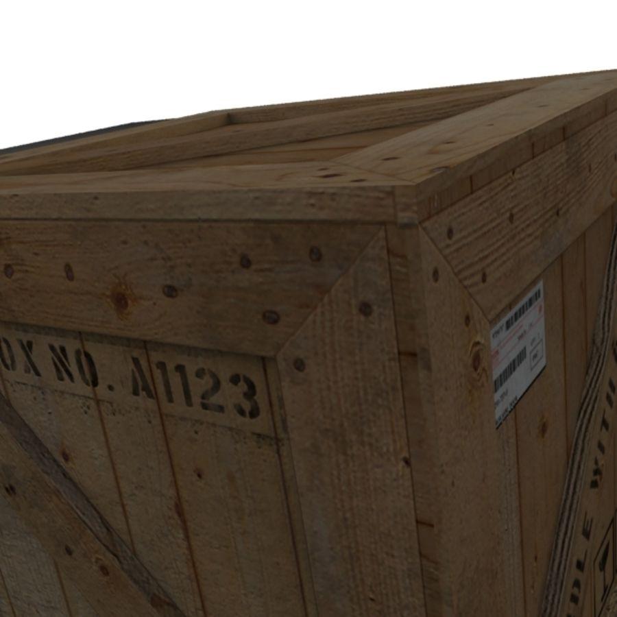 Houten doos 001 royalty-free 3d model - Preview no. 9