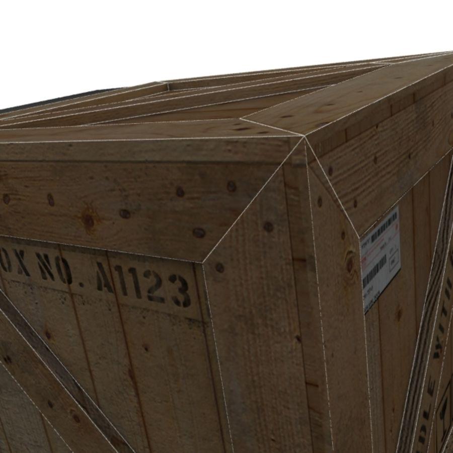 Houten doos 001 royalty-free 3d model - Preview no. 16
