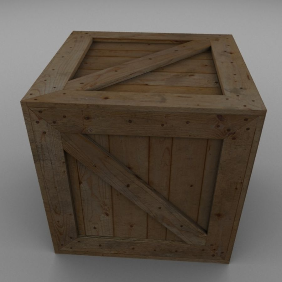 Wood Carton 001 royalty-free 3d model - Preview no. 4