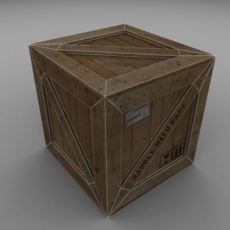 Wood Carton 001 royalty-free 3d model - Preview no. 13