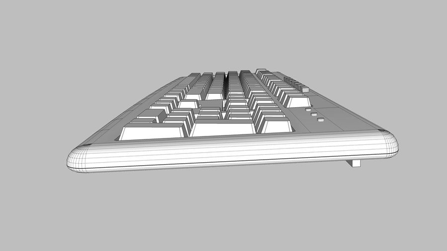 Computer Keyboard: Black royalty-free 3d model - Preview no. 19
