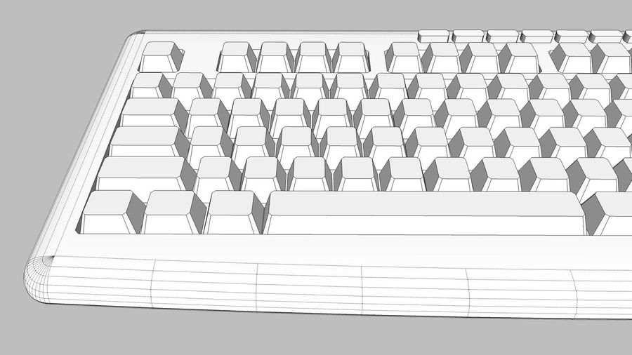 Computer Keyboard: Black royalty-free 3d model - Preview no. 16
