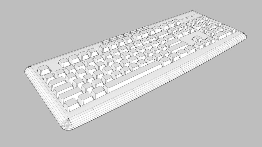 Computer Keyboard: Black royalty-free 3d model - Preview no. 12