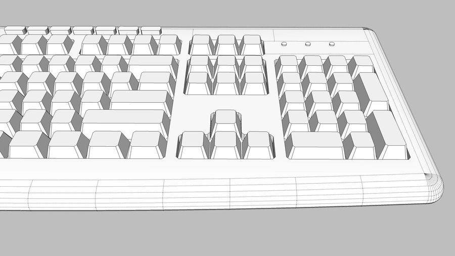 Computer Keyboard: Black royalty-free 3d model - Preview no. 15