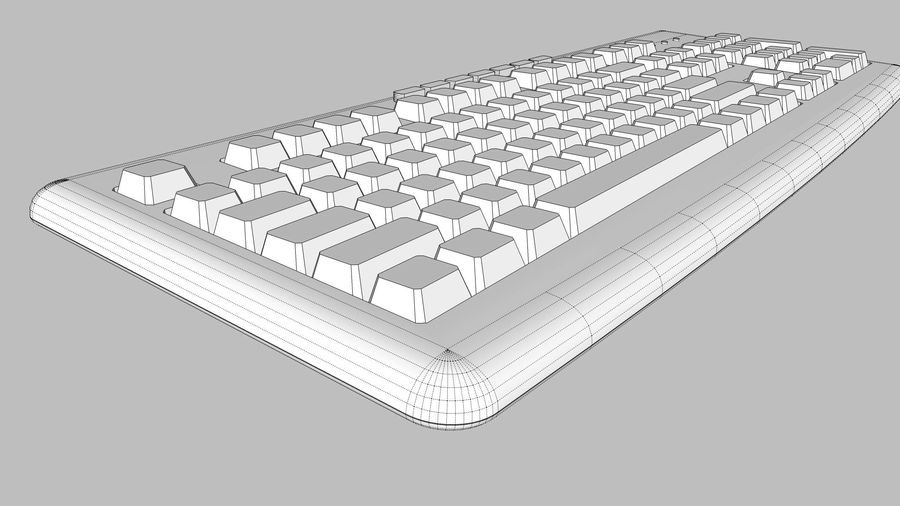 Computer Keyboard: Black royalty-free 3d model - Preview no. 17