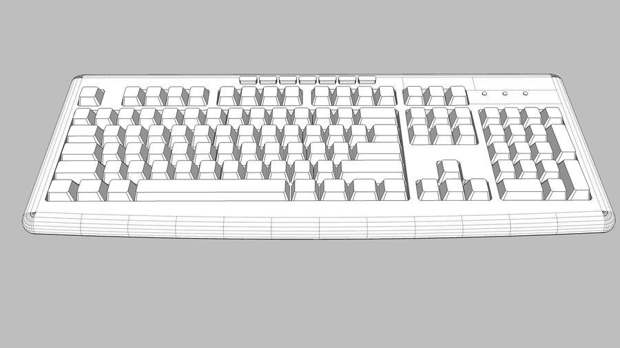 Computer Keyboard: Black royalty-free 3d model - Preview no. 10