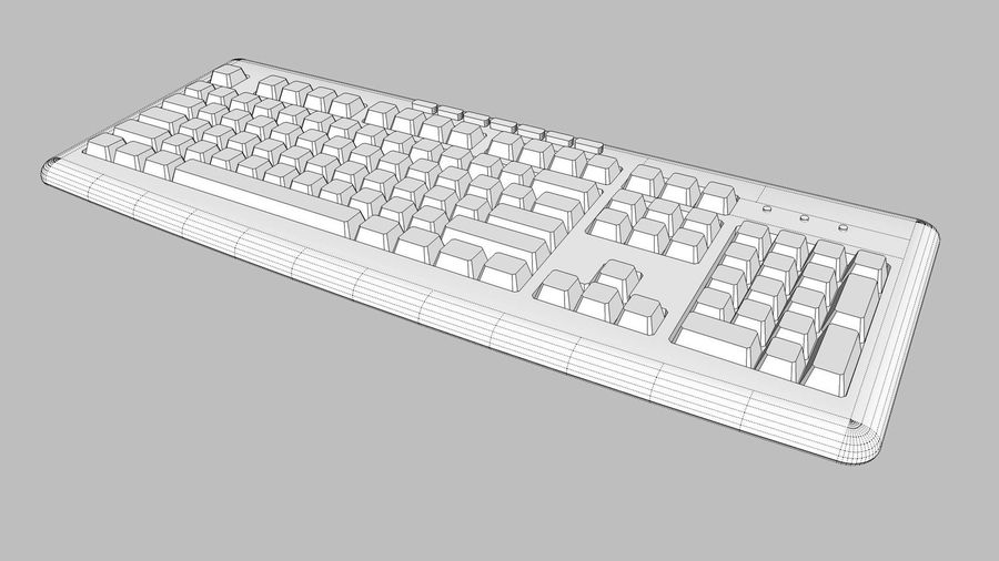 Computer Keyboard: Black royalty-free 3d model - Preview no. 14