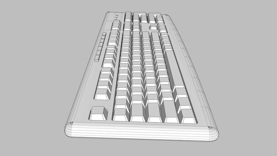 Computer Keyboard: Black royalty-free 3d model - Preview no. 13